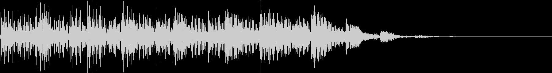 海外ドラム風/未来的な場面転換効果音の未再生の波形