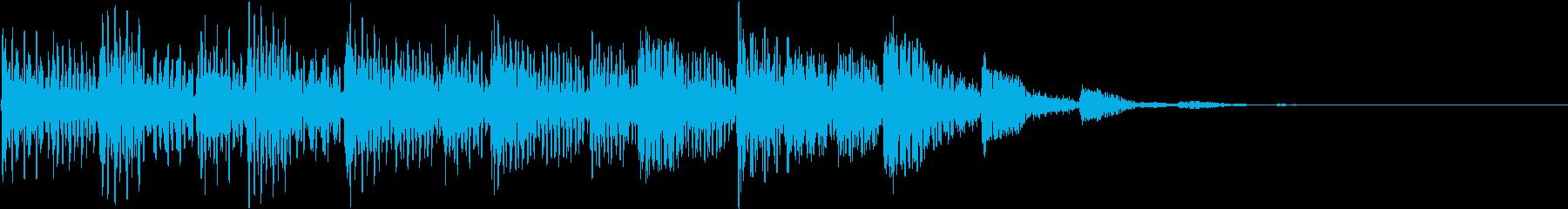 海外ドラム風/未来的な場面転換効果音の再生済みの波形