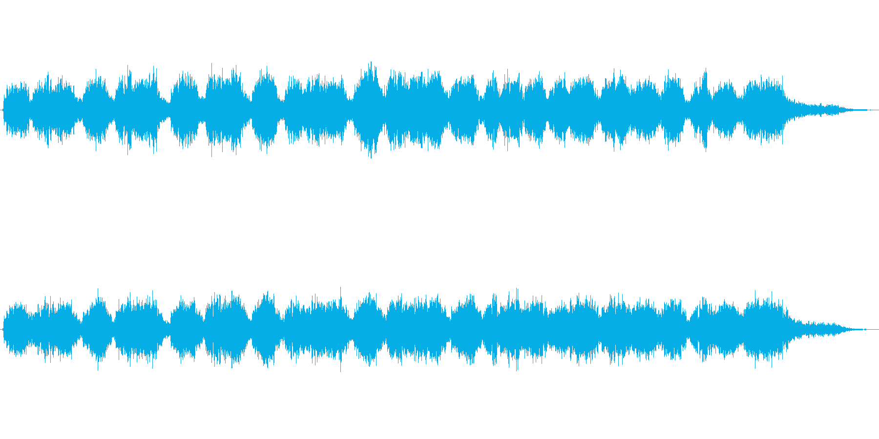 レトロで不思議な雰囲気のジングルの再生済みの波形