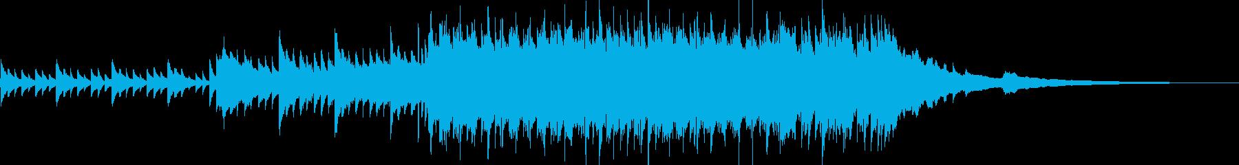 しっとりと切ないピアノのナンバーの再生済みの波形