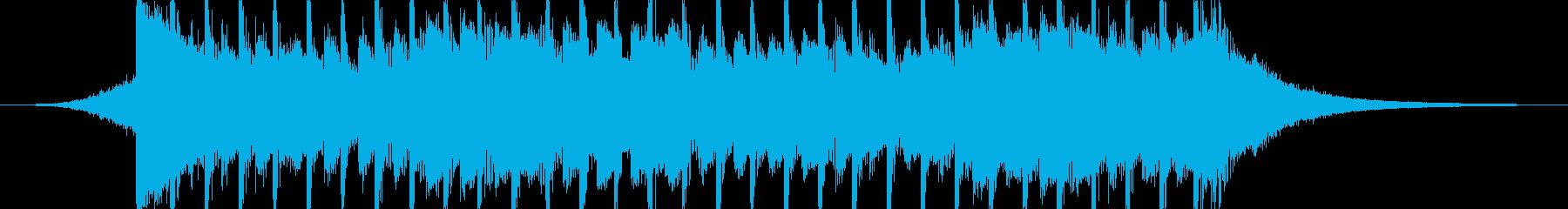 企業VP向け、爽やかポップ4つ打ち13cの再生済みの波形