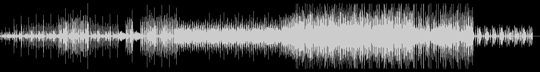 ディープなシンセが印象的なダンサブルな曲の未再生の波形