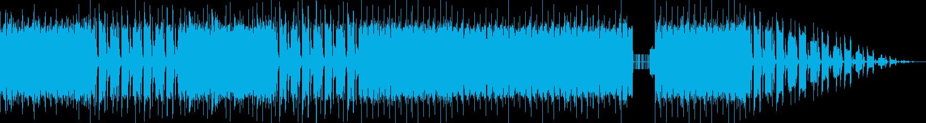 ヒップホップダンスチューンな曲の再生済みの波形