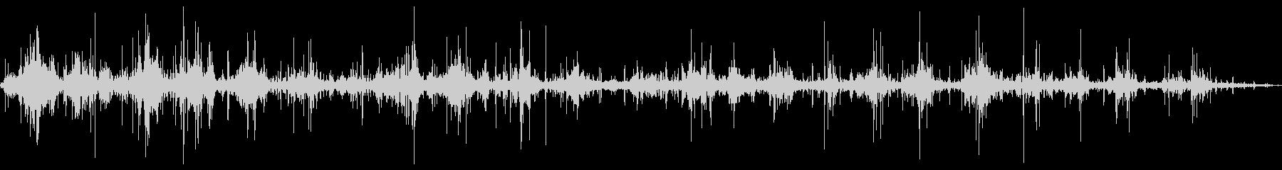アルミニウムカヌー:2つのパドラー...の未再生の波形