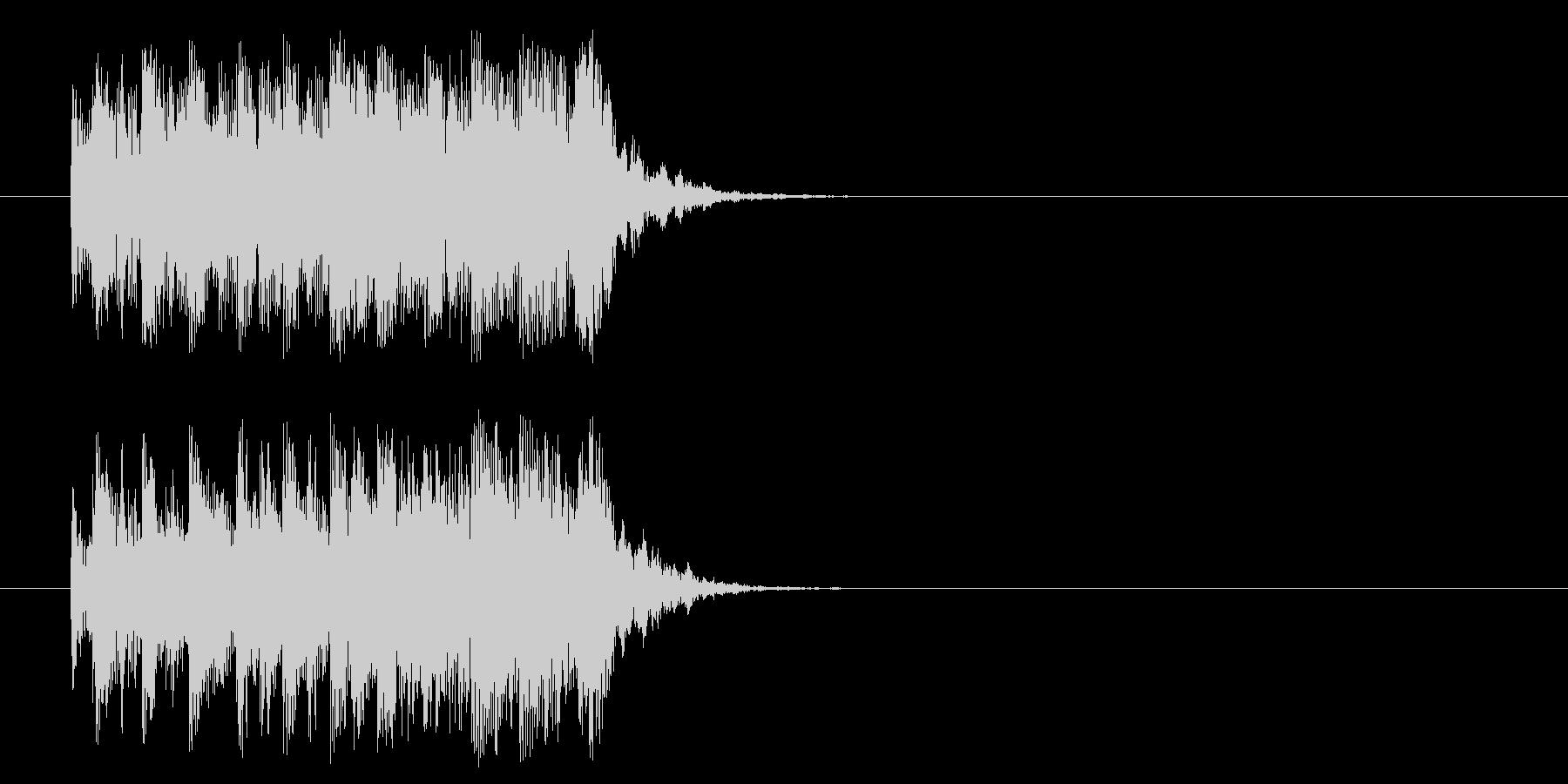 ロック系ジングルの未再生の波形