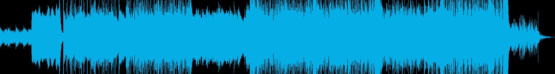古い音と新しい音が混じった幻想的なBGMの再生済みの波形