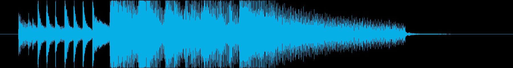 クールなジャズ系ジングルの再生済みの波形