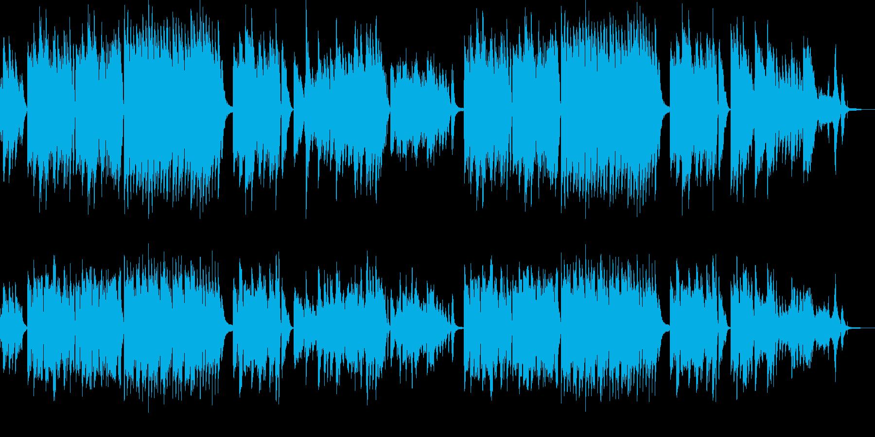 満天の星空 リラックスできる曲 ピアノの再生済みの波形
