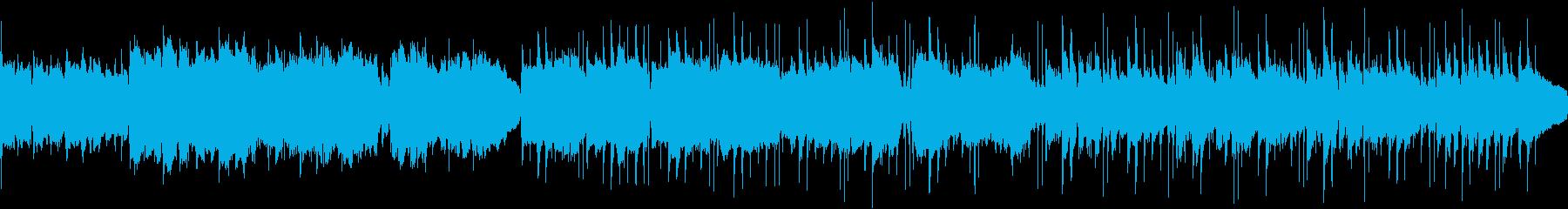 穏やかなギターアンサンブルの再生済みの波形