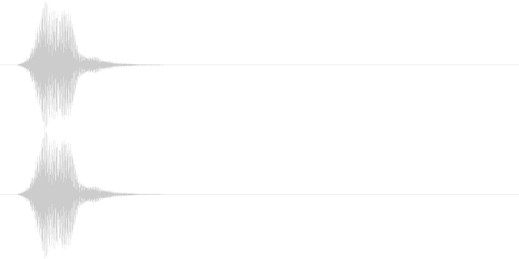 フォン(入力失敗 ワープ バーチャル) の未再生の波形