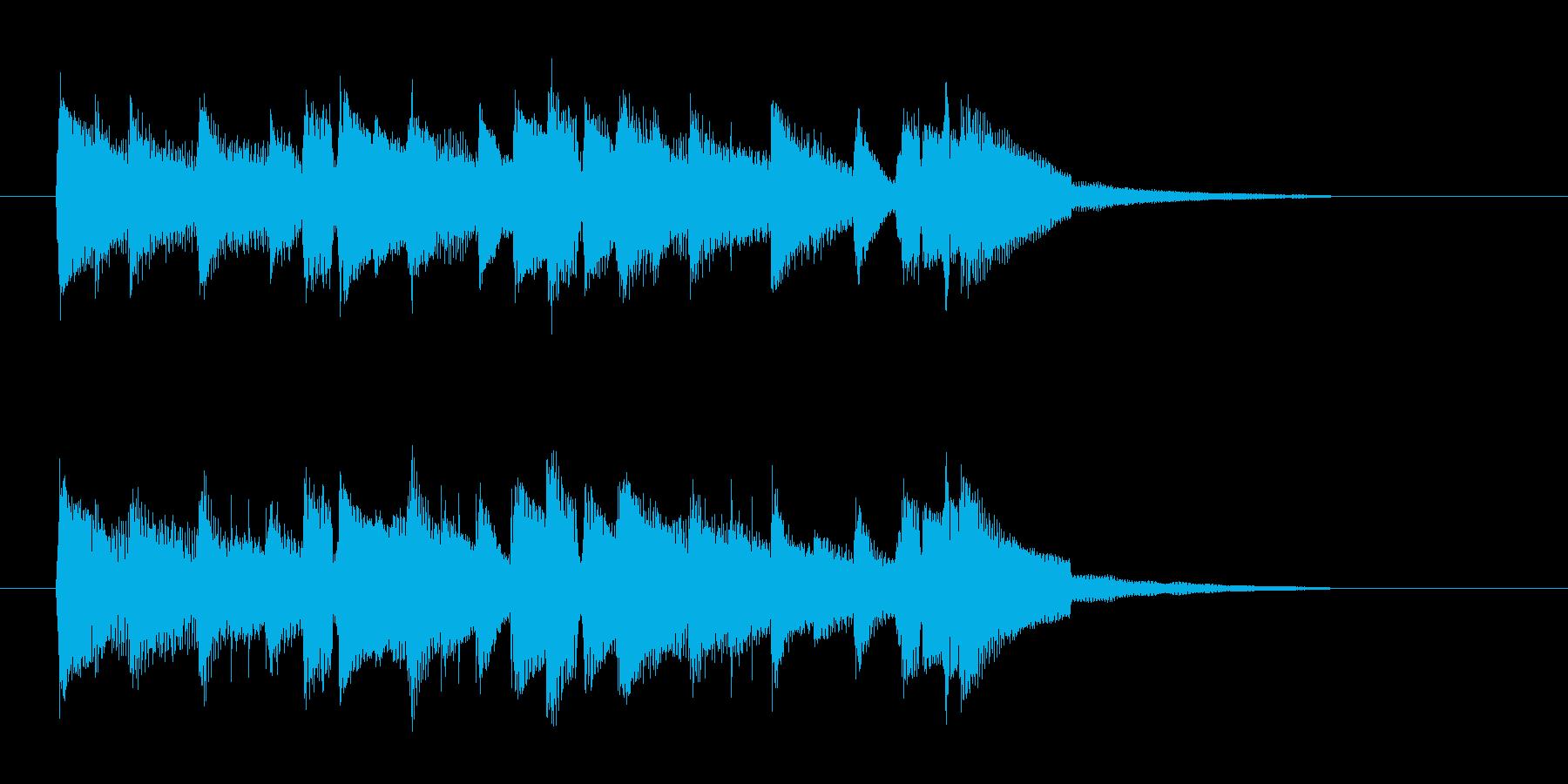 流れるようなミディアムテンポの曲の再生済みの波形