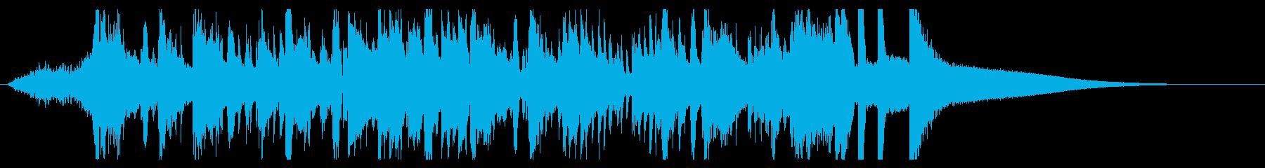 ハイテク企業ジングル 疾走感ジャズピアノの再生済みの波形