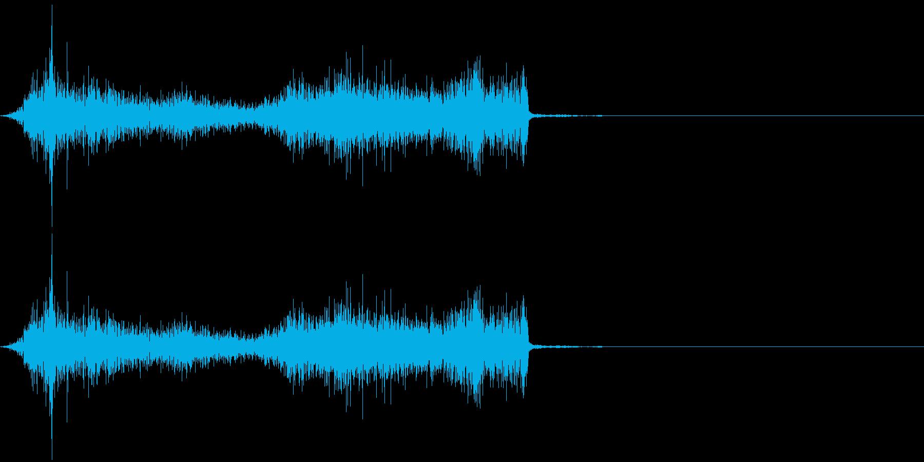 タブ切り替え時の音(紙を擦る音)_02の再生済みの波形