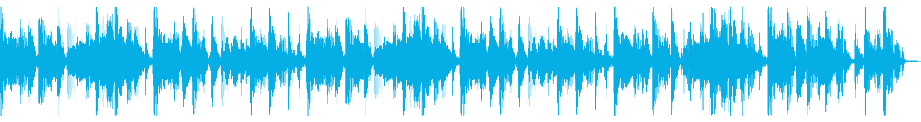 荒けずりでタメもうねりもあるファンクリフの再生済みの波形