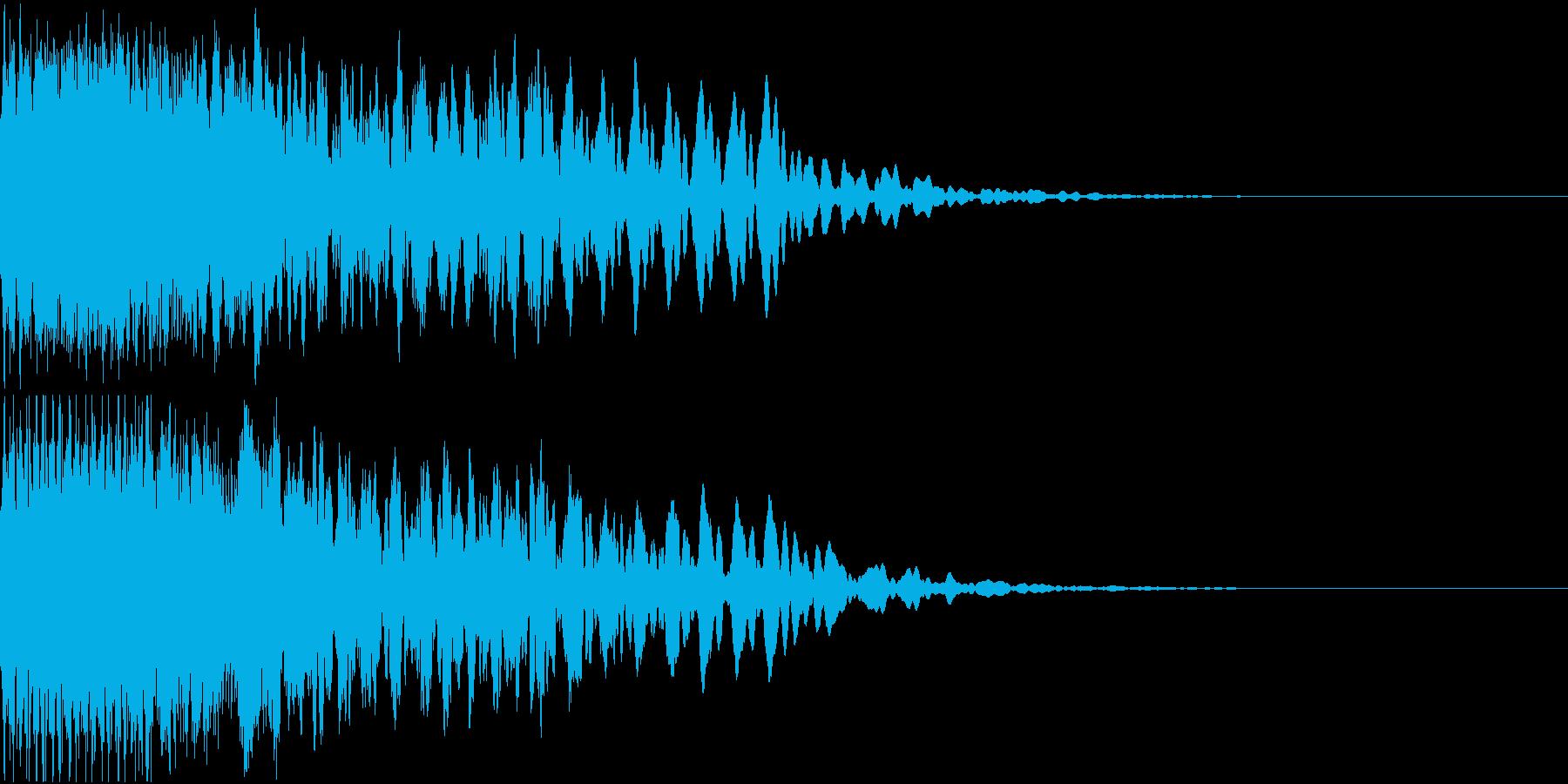 キュイン ギュイーン シャキーン 16の再生済みの波形