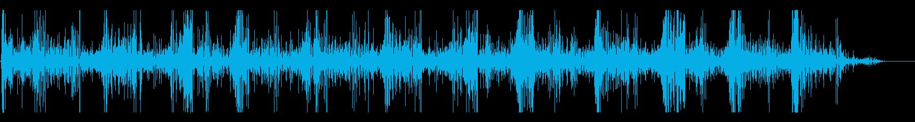 水中のブクブク音の再生済みの波形