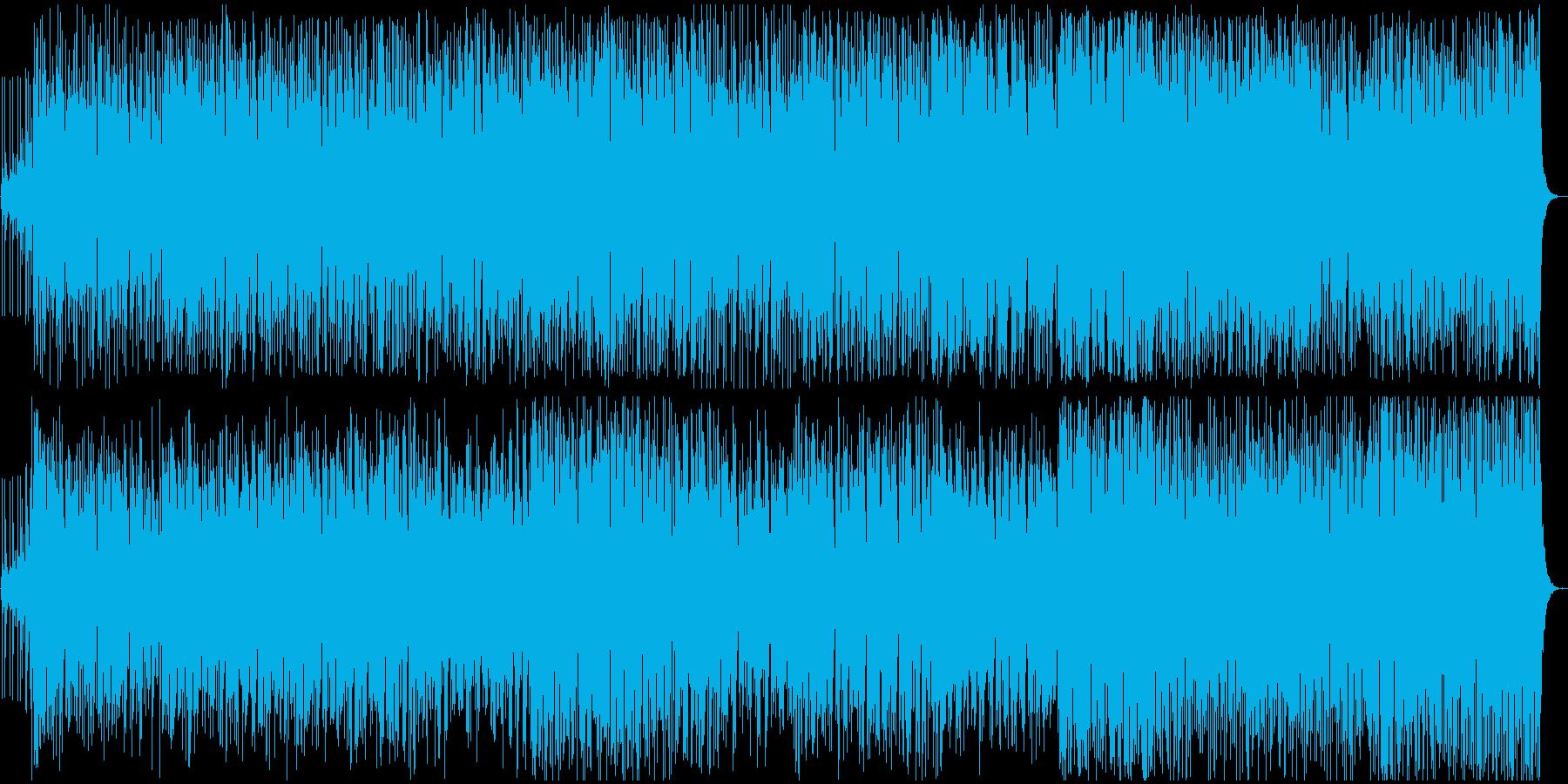 活動的で明るいイメージのBGMの再生済みの波形