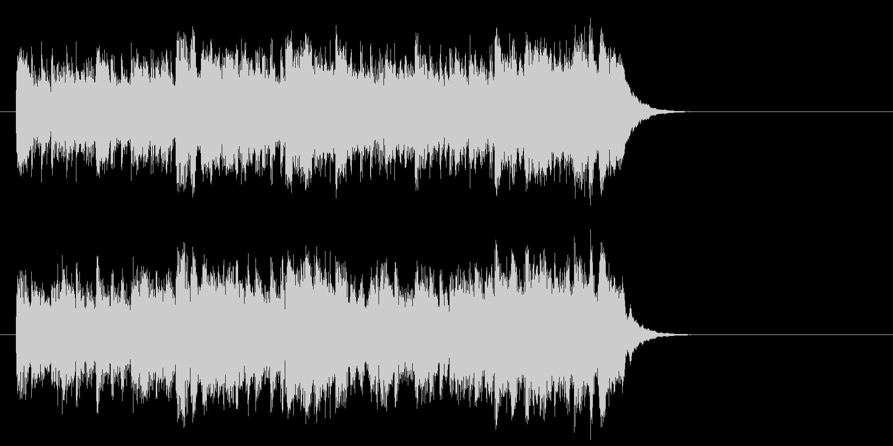 優しいポップフュージョン(イントロ)の未再生の波形