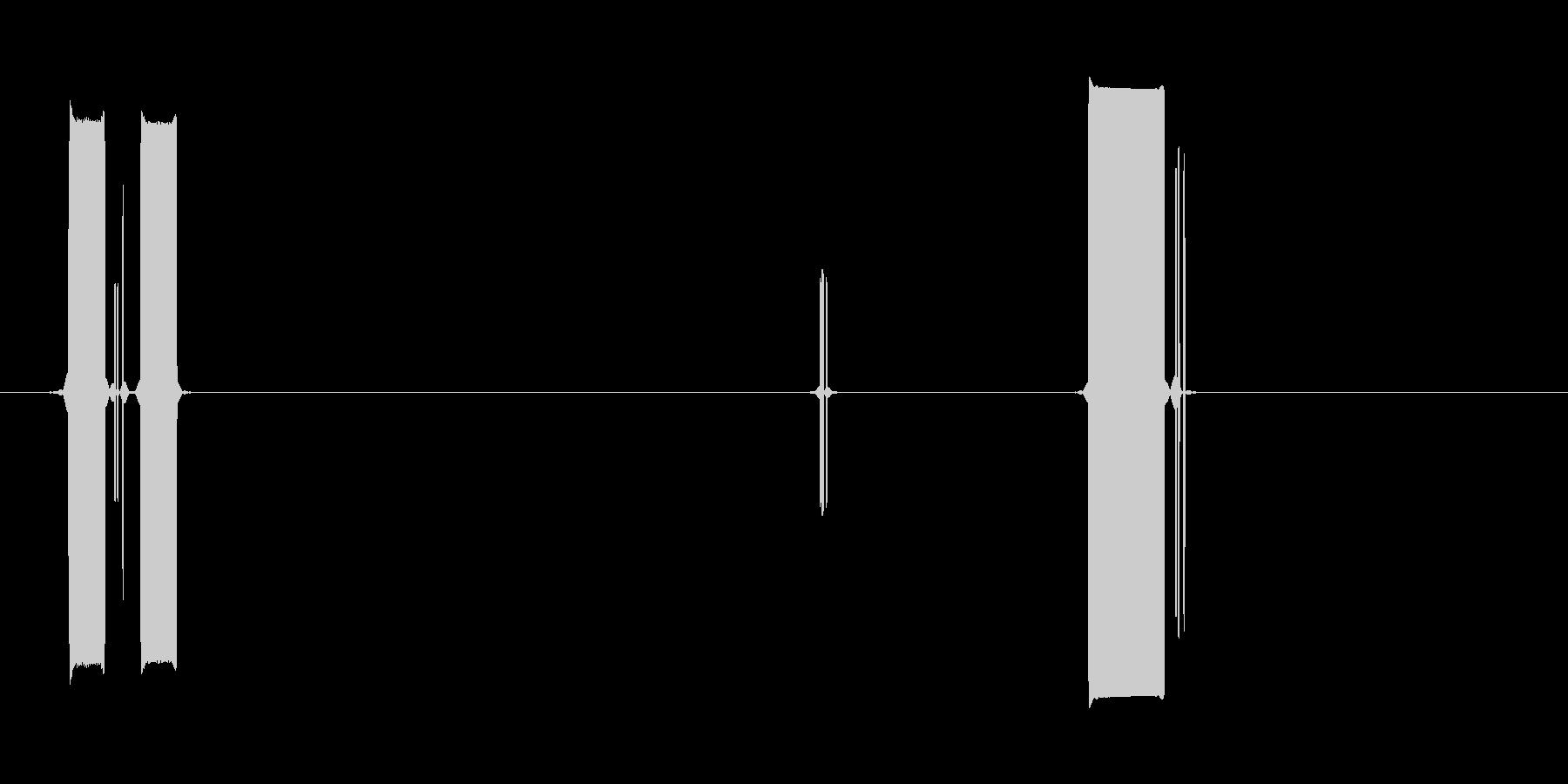 ピコッピッ(ポップなコンピュータ起動音)の未再生の波形