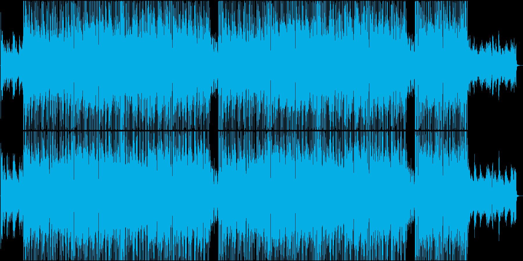 スムースジャズのリラックストラックの再生済みの波形