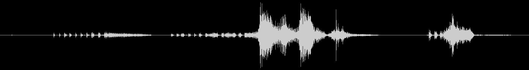 犬 チワワグロールバーク01の未再生の波形