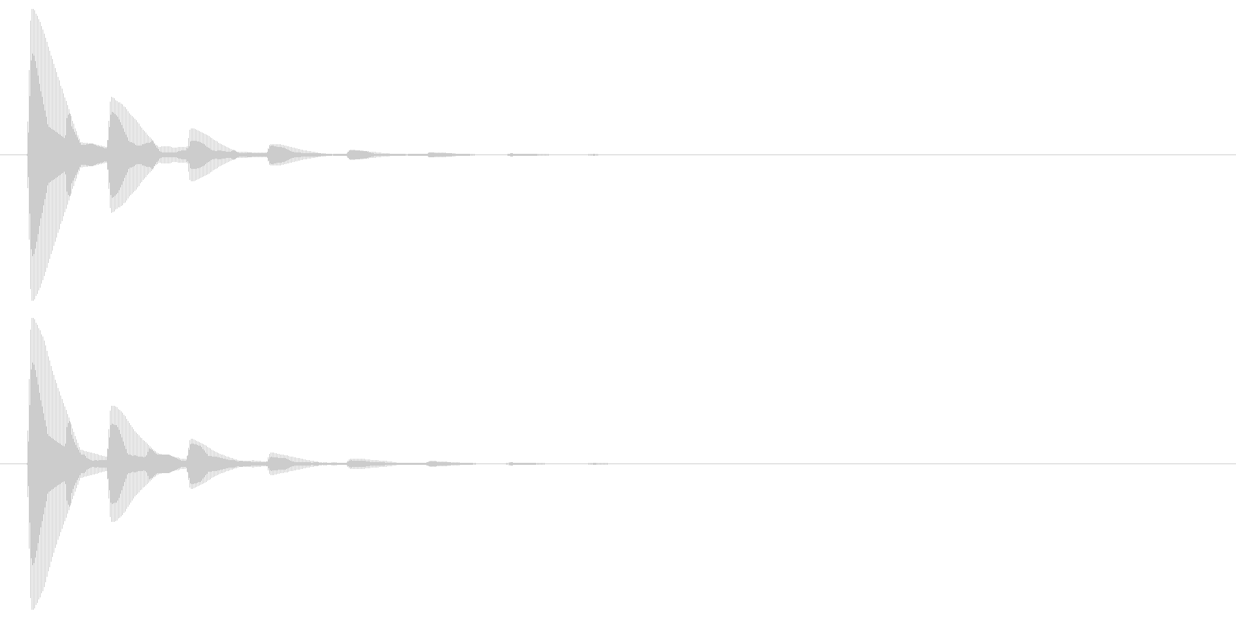 ピッ(カーソル、余韻有り) 04の未再生の波形
