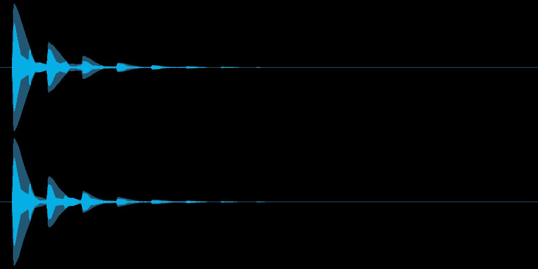 ピッ(カーソル、余韻有り) 04の再生済みの波形