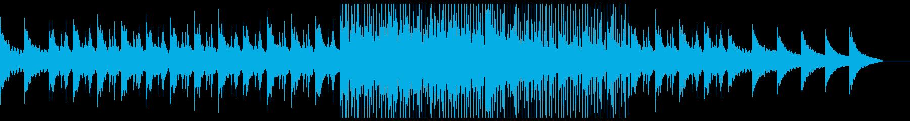 とても緊張感のあるピアノとシンセサウンドの再生済みの波形