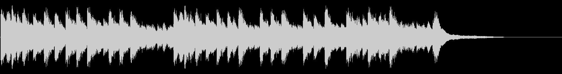 ゆったりとしたピアノソロ曲の未再生の波形