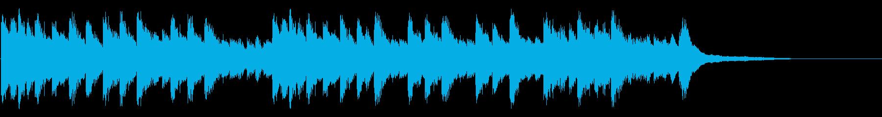 ゆったりとしたピアノソロ曲の再生済みの波形