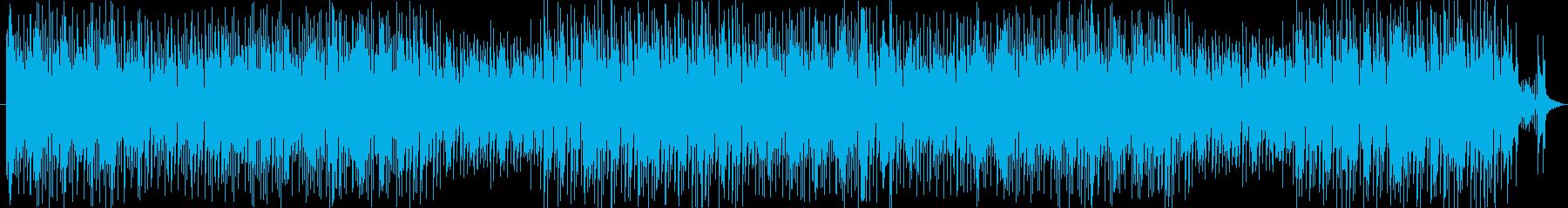 オシャレで軽快なポップスの再生済みの波形