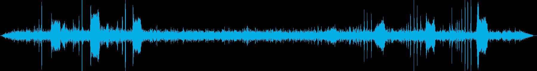 鳩の至近距離録音ですの再生済みの波形