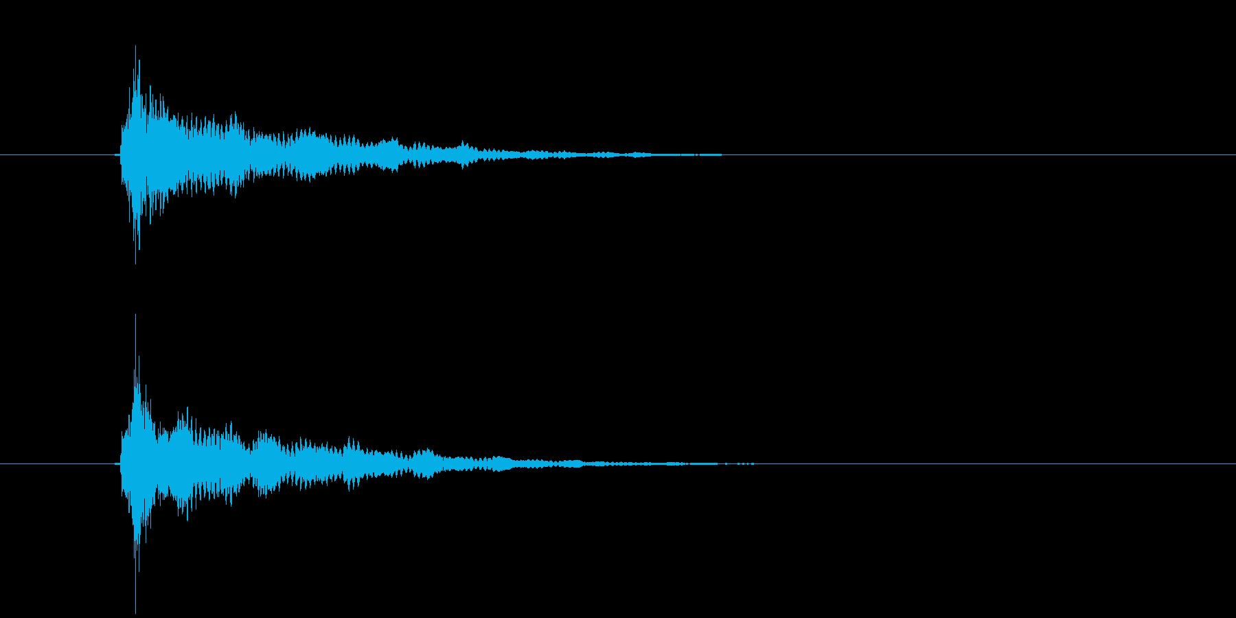 ティーン(ひらめき音)の再生済みの波形