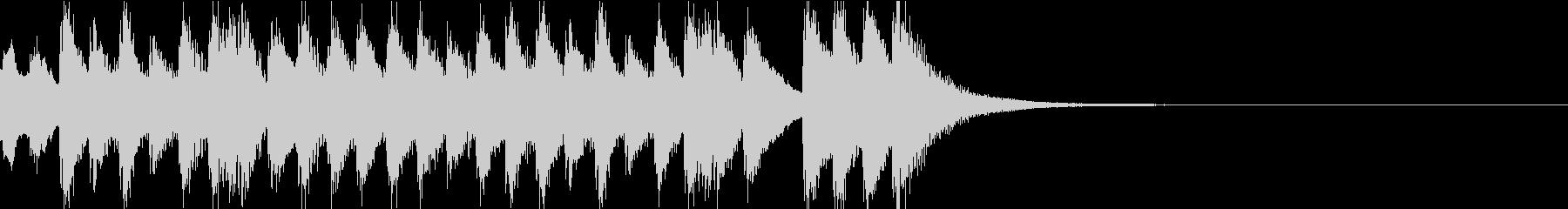 和物の場面チェンジに合うジングルの未再生の波形