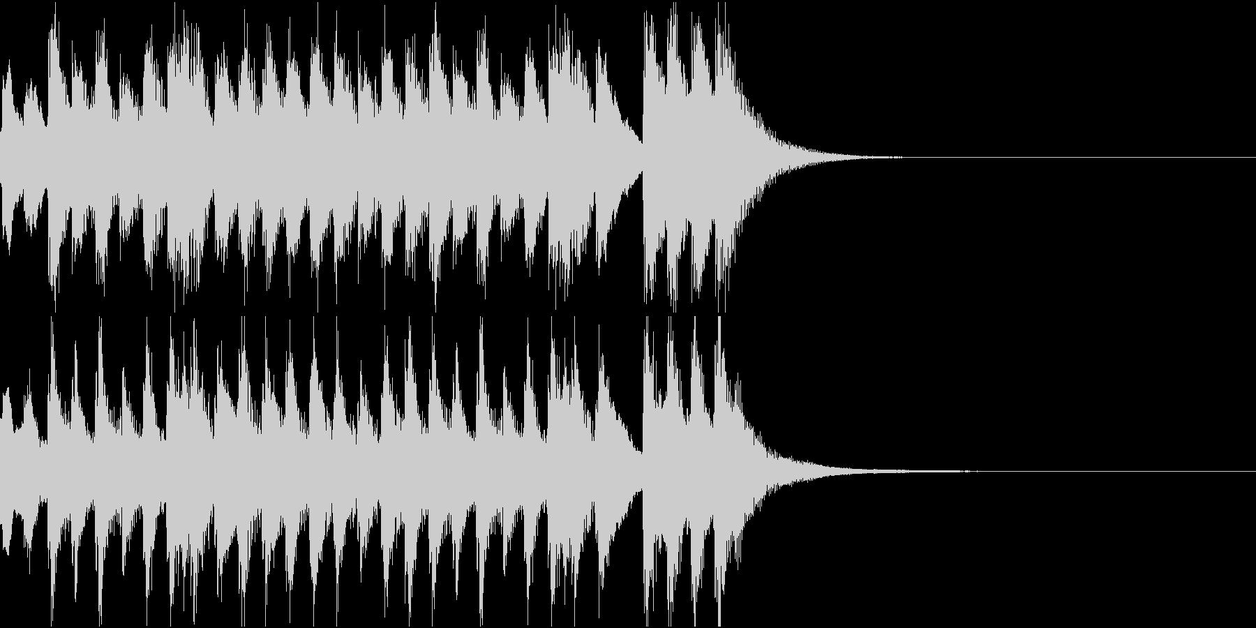 劇の繋ぎの場面に使える和楽器のジングルの未再生の波形