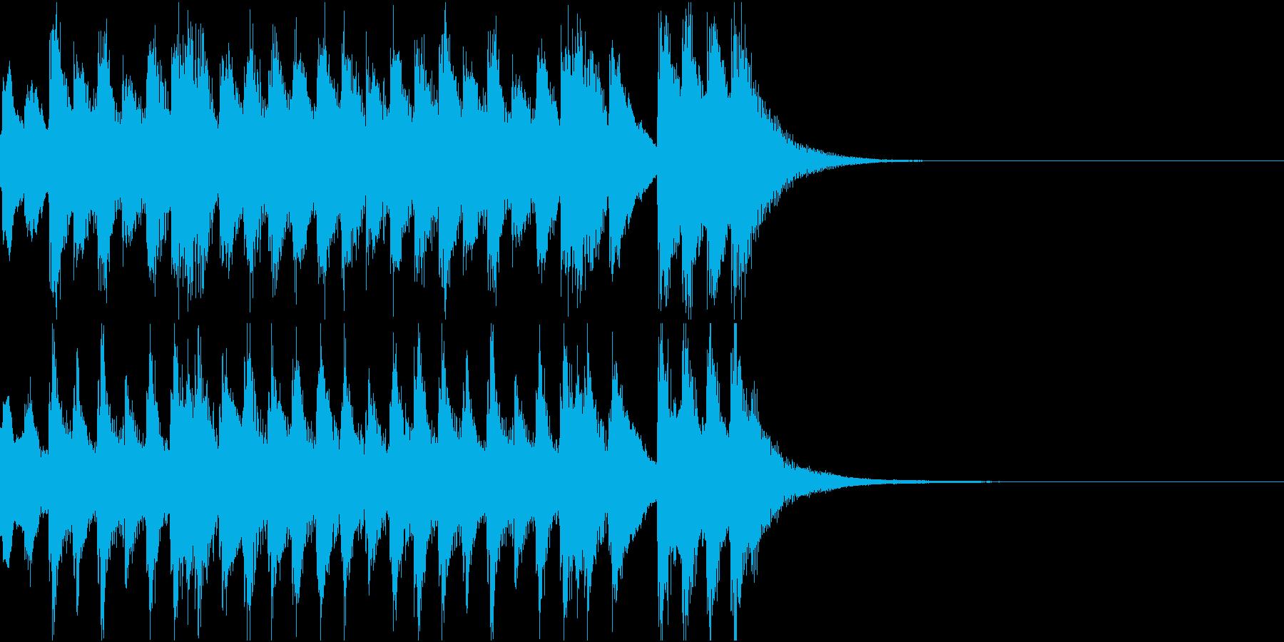 劇の繋ぎの場面に使える和楽器のジングルの再生済みの波形