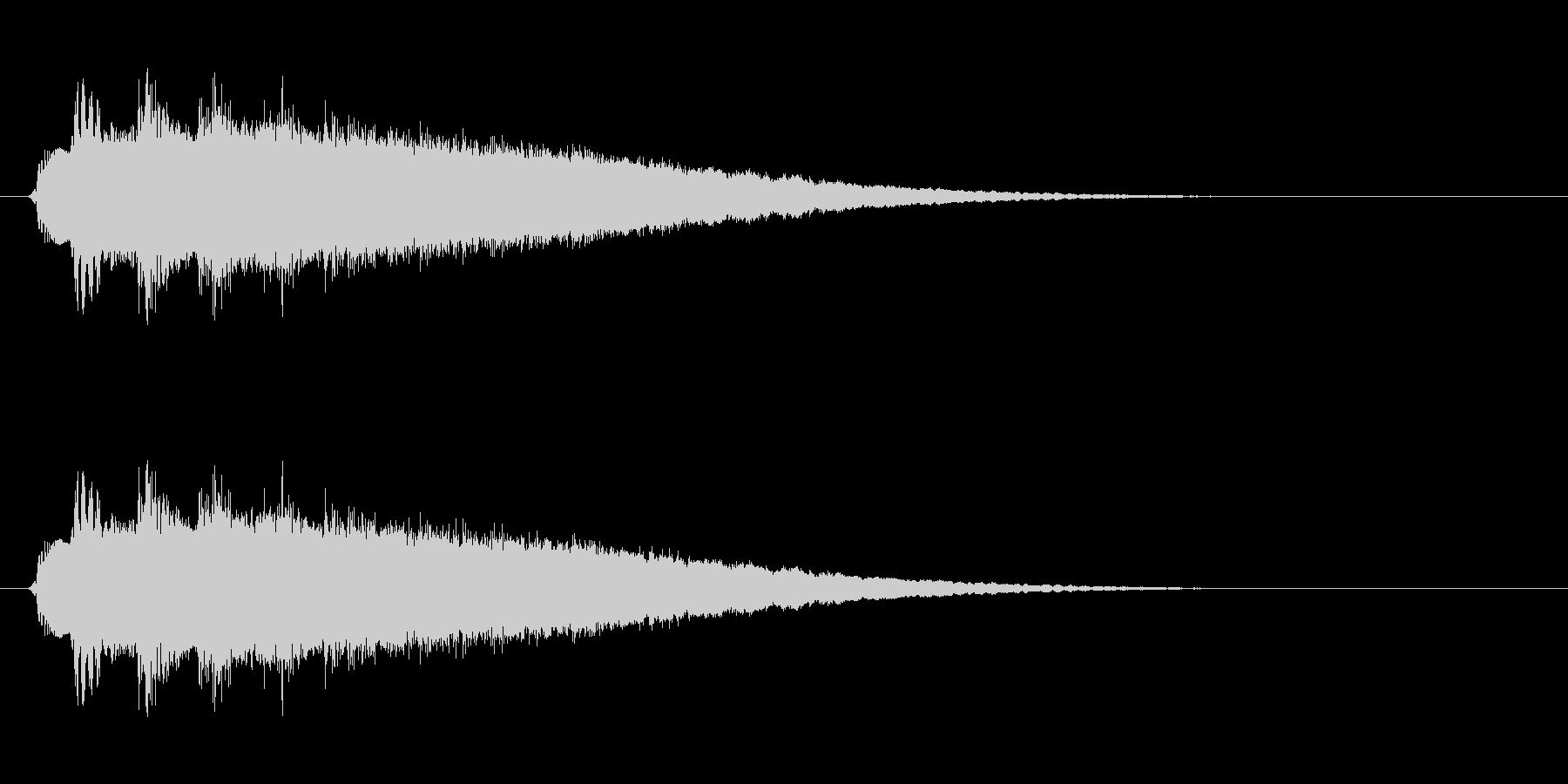 ピューン↓(短めの落下音・コミカル)の未再生の波形