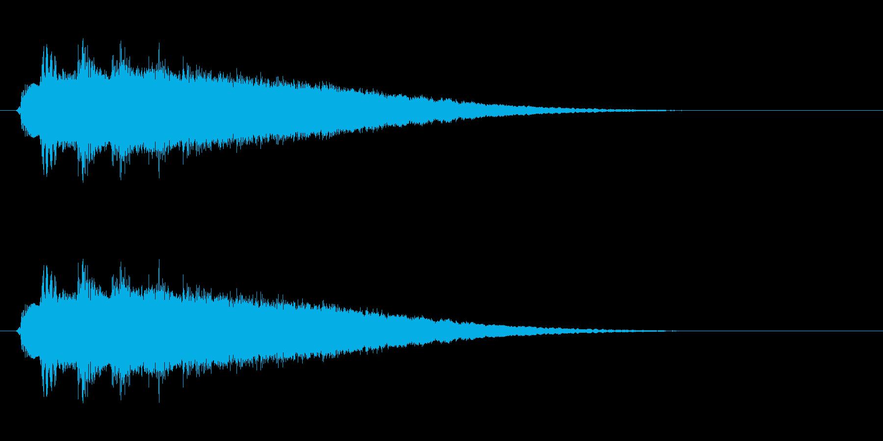 ピューン↓(短めの落下音・コミカル)の再生済みの波形