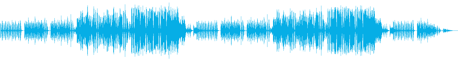 ほのぼのした日常を描いた曲の再生済みの波形