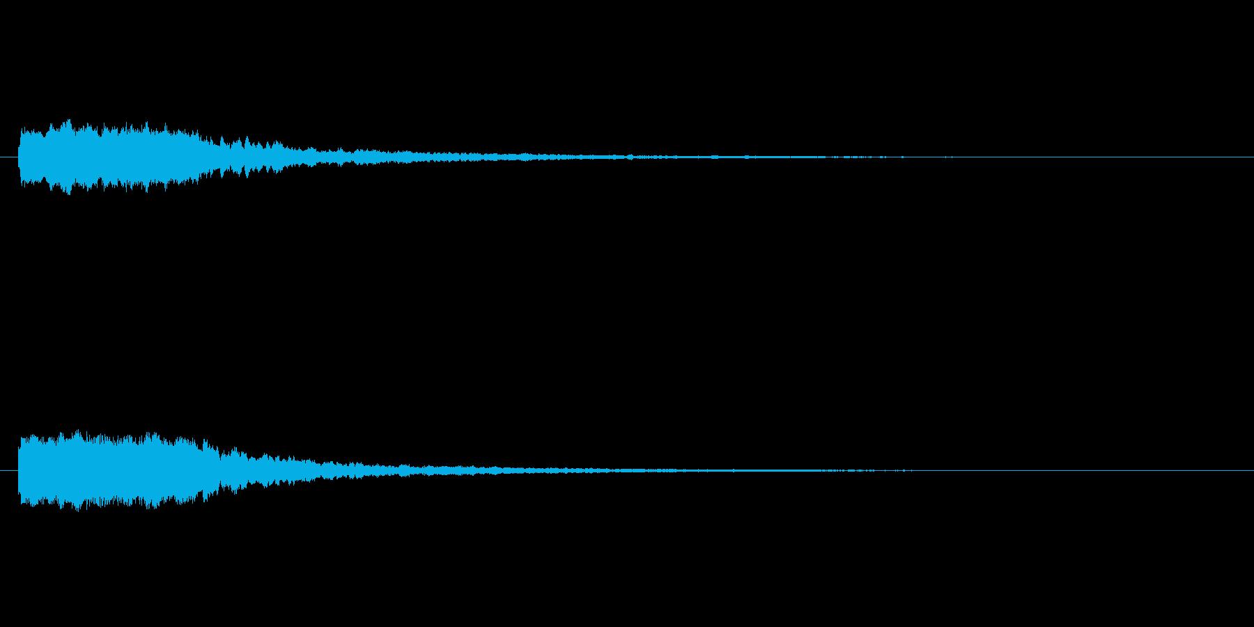 宇宙、サイバー感に包まれるような効果音の再生済みの波形