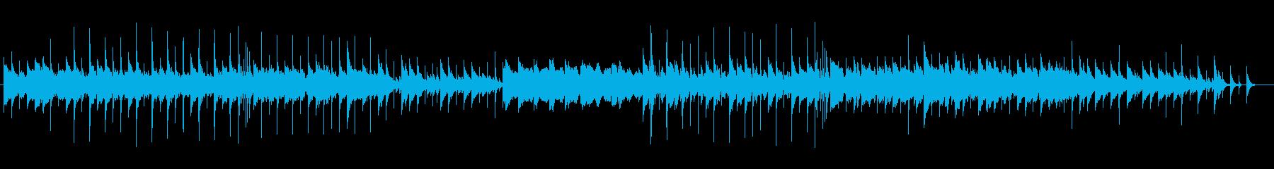 可愛らしい鉄琴によるテクノの再生済みの波形