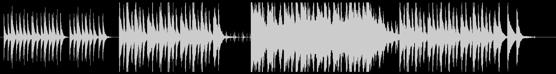 ほのぼのした日常のBGMの未再生の波形