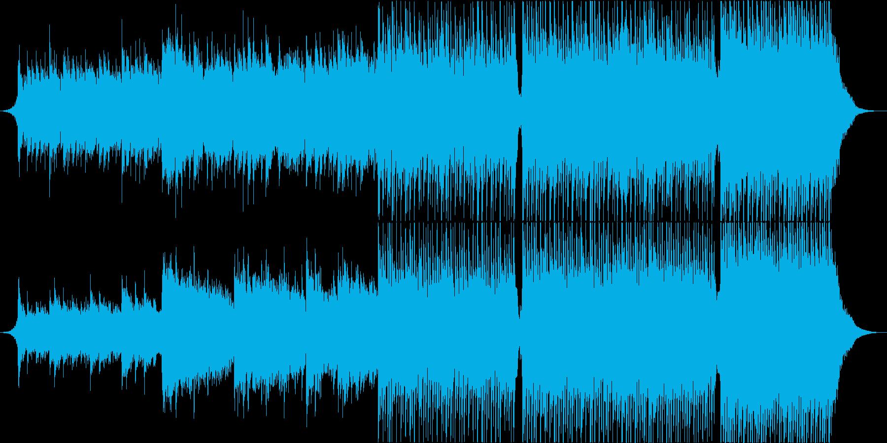 徐々に盛り上がる旅系ギターロックポップスの再生済みの波形