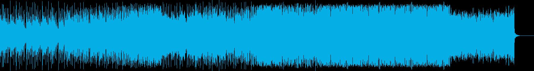 疾走感のあるローファイビート(低音)の再生済みの波形