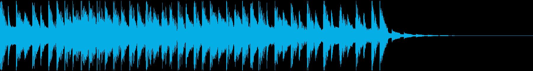 テクノ、シンセ、エレクトリック、ジングルの再生済みの波形
