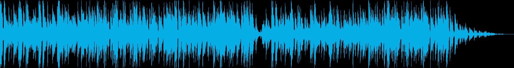 お洒落なカフェで流れてる曲の再生済みの波形
