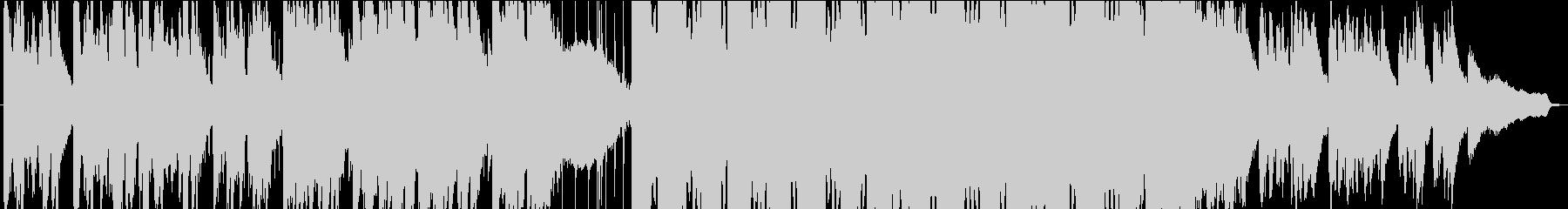 緊張感のあるシーンに、エピックBGMの未再生の波形