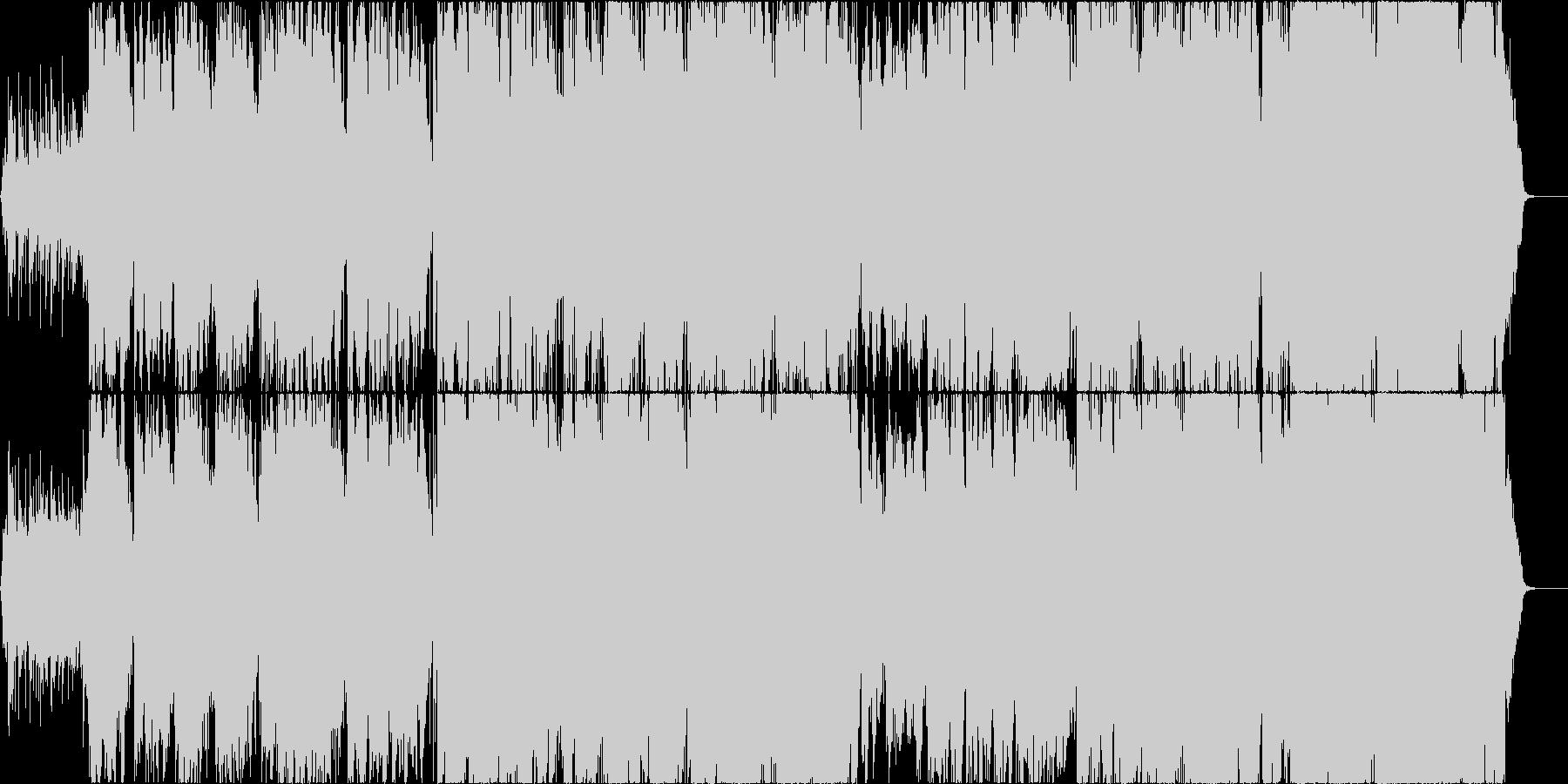 清涼感と幻想的な二胡楽曲の未再生の波形