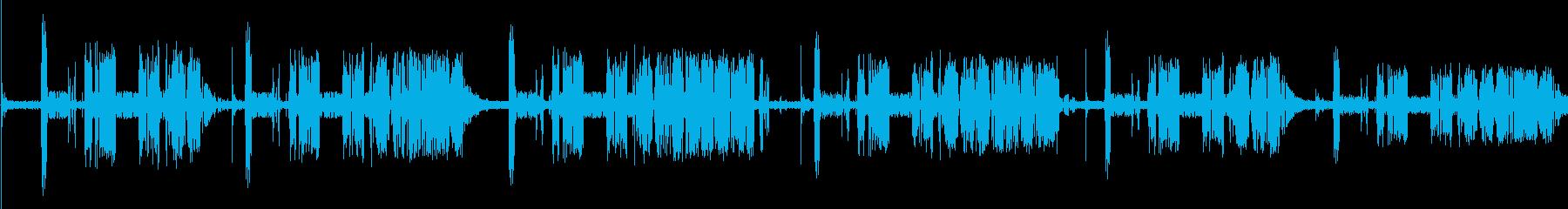 【無線,ラジオ】ノイズ,ザザー,ジジーの再生済みの波形