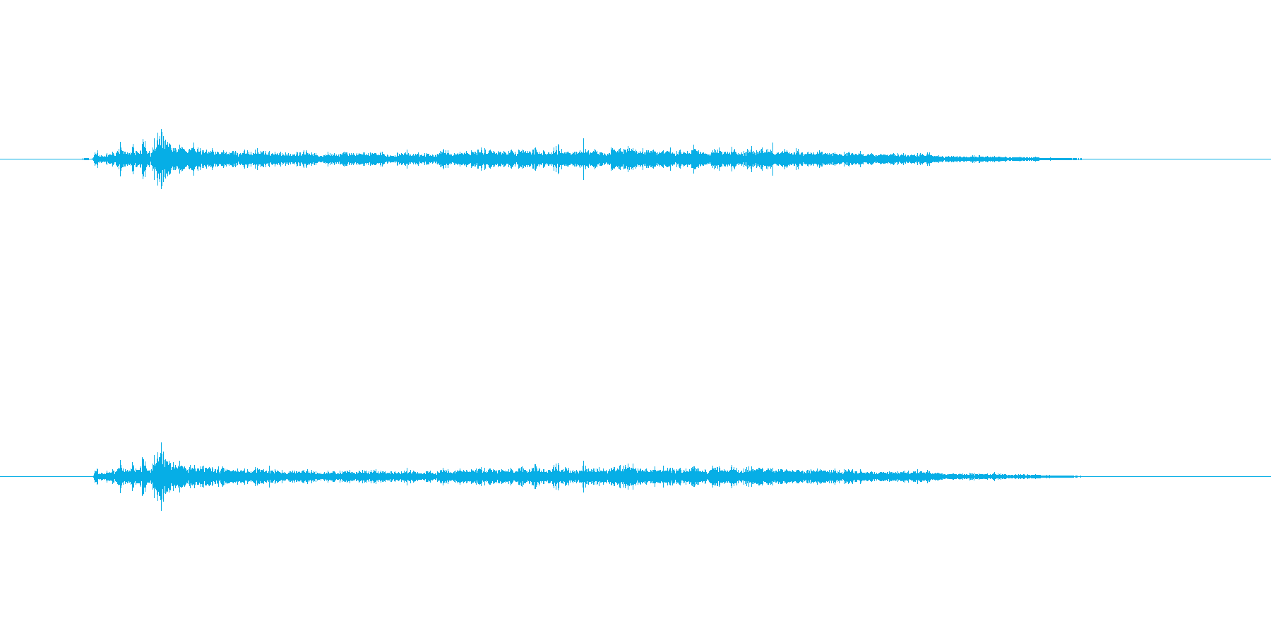 ばしゃーんの再生済みの波形